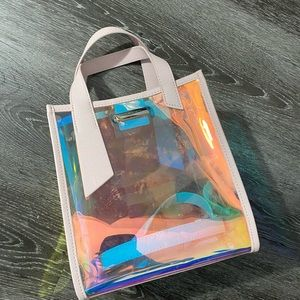 USED Charles & Keith Iridescent Clear Handbag